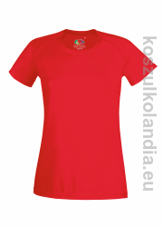 Koszulka sportowa Fruit of the Loom Performance damska 61-392-0  red