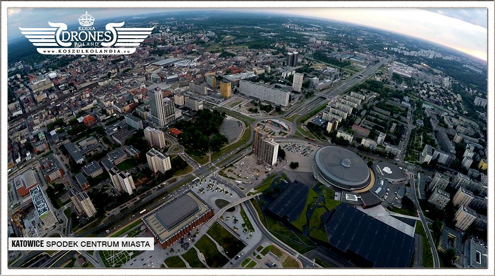 katowice centrum cubus dron z lotu
