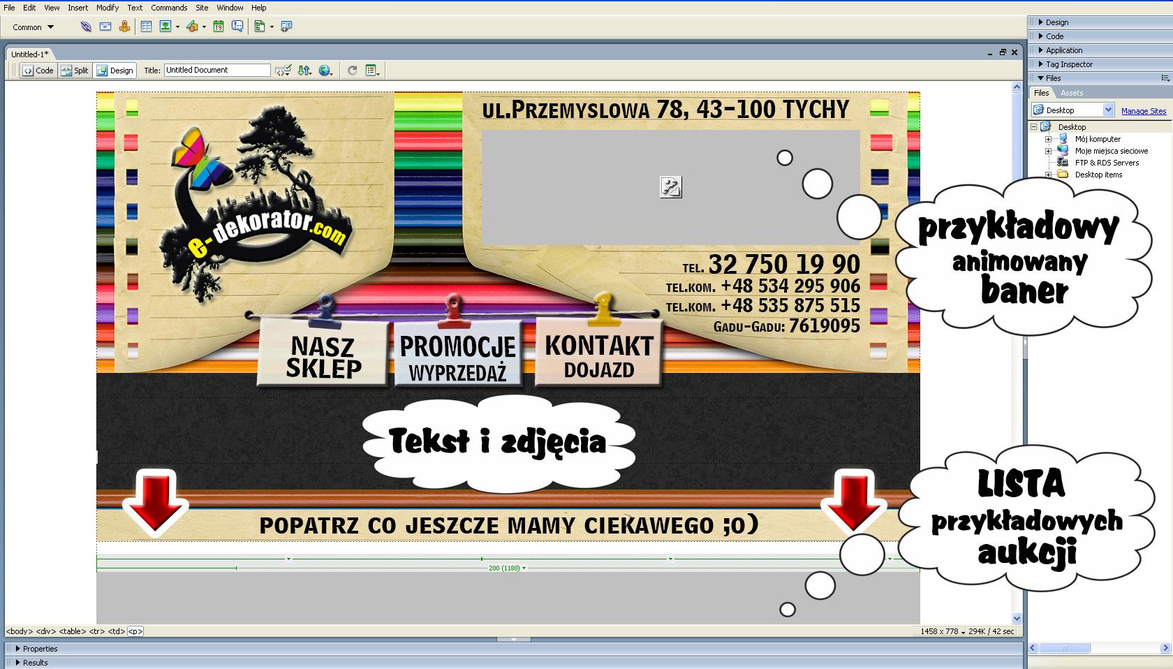 Baner graficzny pod allegro sprzedaż handle indywidualna szata graficzna SPRZEDAWAJ SAM