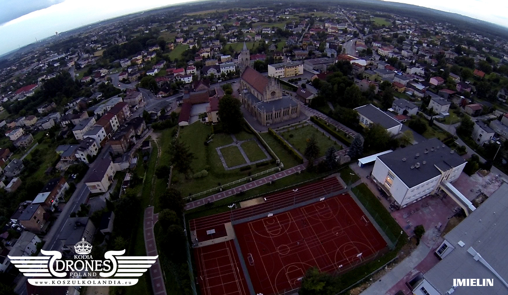 imielin centrum widok z lotu ptaka województwo śląskie