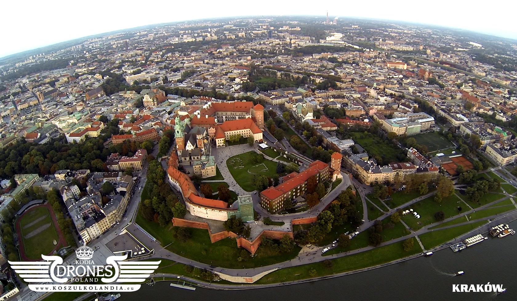 kraków wawel widok z lotu ptaka zamek krakowski