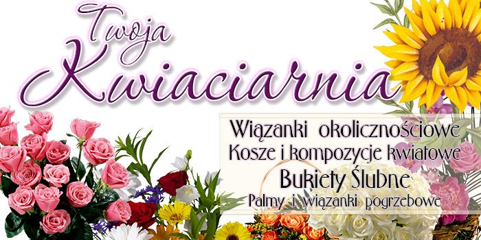 BANER REKLAMOWY dla kwiaciarni kwiaciarnia