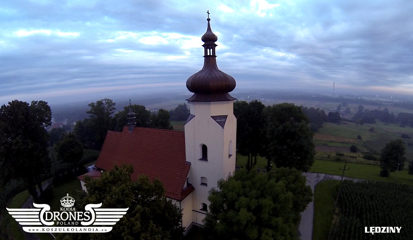 lędziny klimont kościół z lotu ptaka drona