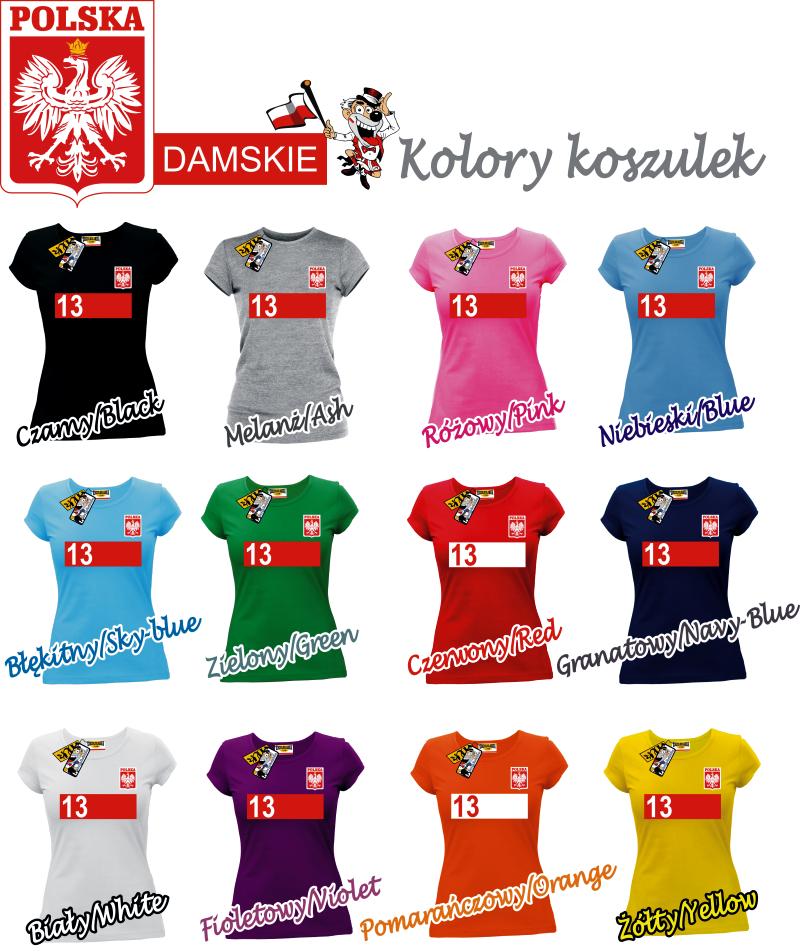 koszulki reprezentacji polski z nadrukiem własnym damskie