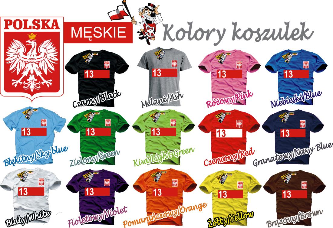 085600605946a3 koszulki reprezentacji polski z nadrukiem własnym męskie