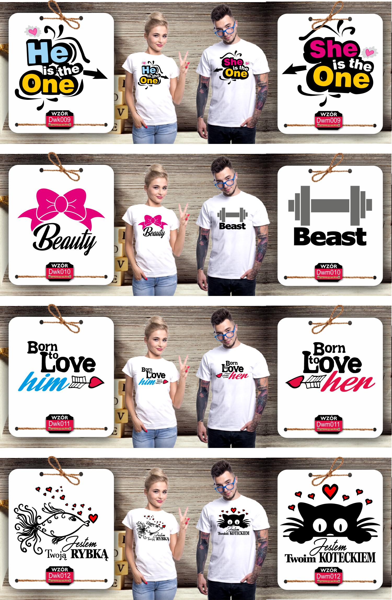 propozycje dla zakochanych ukryte w koszulkach z nadrukiem walentynki